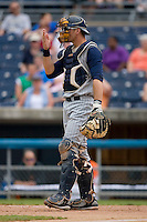 Catcher Dusty Ryan #13 of the Toledo Mudhens gives defensive signals at Harbor Park June 7, 2009 in Norfolk, Virginia. (Photo by Brian Westerholt / Four Seam Images)