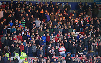Lincoln City fans enjoy the pre-match atmosphere<br /> <br /> Photographer Chris Vaughan/CameraSport<br /> <br /> The Emirates FA Cup Second Round - Lincoln City v Carlisle United - Saturday 1st December 2018 - Sincil Bank - Lincoln<br />  <br /> World Copyright © 2018 CameraSport. All rights reserved. 43 Linden Ave. Countesthorpe. Leicester. England. LE8 5PG - Tel: +44 (0) 116 277 4147 - admin@camerasport.com - www.camerasport.com
