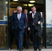 13/9/'07 . Taoiseach Bertie Ahern leaving the Mahon Tribunal in Dublin today. .PIC COLLINS PHOTOS