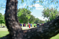 Annie Park (USA) watches her putt on 1 during round 4 of  the Volunteers of America Texas Shootout Presented by JTBC, at the Las Colinas Country Club in Irving, Texas, USA. 4/30/2017.<br /> Picture: Golffile | Ken Murray<br /> <br /> <br /> All photo usage must carry mandatory copyright credit (&copy; Golffile | Ken Murray)