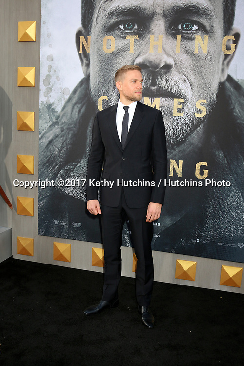 """LOS ANGELES - MAY 8:  Charlie Hunnam at the """"King Arthur Legend of the Sword"""" World Premiere on the TCL Chinese Theater IMAX on May 8, 2017 in Los Angeles, CA"""