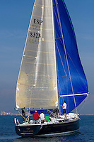 Saetta Euroatomizado. .II TROFEO DESAFÍO ESPAÑOL - Club Náutico Español de Vela, Port America's Cup, Valencia, España/Spain. 7th to the 9th of November 2008. America's Cup Class V5 competition with Desafío Español ESP97, Team Origin GBR88, Alinghi SUI100, Luna Rossa ITA94 and near one hundred of yachts will participate.