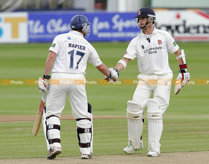 James Foster  (right) of Essex is congratulated by Graham Napier having reached 150 runs - Essex CCC vs Nottinghamshire CCC - LV County Championship at the Ford County Ground, Chelmsford - 09/07/07 - MANDATORY CREDIT: Gavin Ellis/TGSPHOTO - SELF-BILLING APPLIES WHERE APPROPRIATE. NO UNPAID USE...