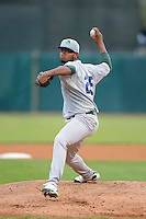 Beloit Snappers pitcher Raul Alcantara #25 during a game against the Kane County Cougars on May 26, 2013 at Fifth Third Bank Ballpark in Geneva, Illinois.  Beloit defeated Kane County 6-5.  (Mike Janes/Four Seam Images)