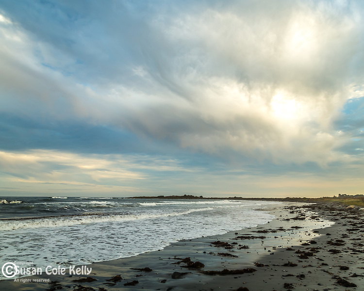 Evening at Seapoint Beach in Kittery, Maine, USA