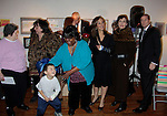 Artists and Rosanna Scotto with Linda Dano who gave her generous underwriting support to the ArtShare for HeartShare - 6th Annual - an exhibit featuring the Artworks of Artists with intellectual & developmental disabilities on November 6, 2014 at the New Century Artists Gallery, New York City, New York. HeartShare is honored to dedicate this evening to the Loving Memory of Vivien Stern, an ardent supporter of ArtShare, who lived life vibrantly and to the the fullest. We Truly will miss her. (Photos by Sue Coflin/Max Photos)