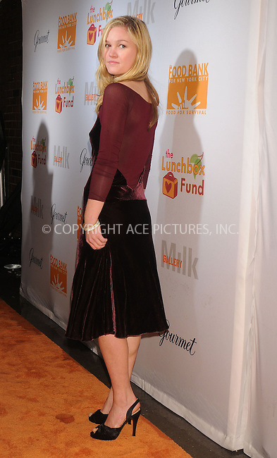 WWW.ACEPIXS.COM . . . . . ....December 11 2008, New York City....Actress Julia Stiles at the Lunchbox Auction presented by Gourmet Magazine, to benefit the Food Bank of New York City and The Lunchbox Fund of South Africa at Milk Studios on December 11, 2008 in New York City....Please byline: KRISTIN CALLAHAN - ACEPIXS.COM.. . . . . . ..Ace Pictures, Inc:  ..tel: (212) 243 8787 or (646) 769 0430..e-mail: info@acepixs.com..web: http://www.acepixs.com