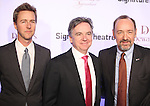 Edward Norton and Kevin Spacey with Signature Founding Artistic Director, James Houghton attending The Signature Theatre Center Opening Gala Celebration honoring Edward Norton in New York City on 1/30/2012.