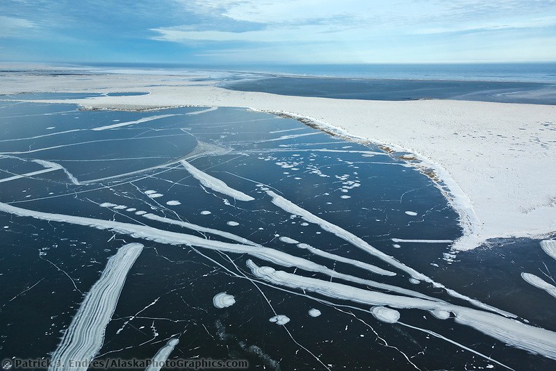 Sea ice patters forms on the Beaufort Sea, Alaska.
