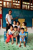 PHILIPPINES, Palawan, Batak Village, Batak children in their classroom at Tanabag Village