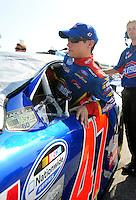May 2, 2008; Richmond, VA, USA; NASCAR Nationwide Series driver Kelly Bires during the Lipton Tea 250 at the Richmond International Raceway. Mandatory Credit: Mark J. Rebilas-