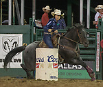 Nellie Miller from Cottonwood CA won the Barrel Racing event during the Reno Rodeo in Reno, Nevada on Saturday, June 23, 2018.