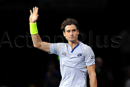 06.11.2015. Paris, France BNP Paribas Master Tennis, Bercy. Quarterfinls match between Ferrer and Isner.  David Ferrer (ESP) celebrates his win