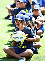 4th February 2020, Eden Park, Auckland, New Zealand;  School children during the skills and drills session. RWC 2021 New Zealand Kick-Off event at Eden Park, Auckland, New Zealand