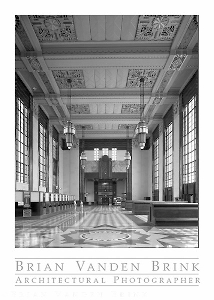UNION PASSENGER TERMINAL<br /> Omaha, Nebraska<br /> Gilbert Underwood, Architect<br /> Built 1931 © Brian Vanden Brink, 1989