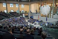 Der Bundestag erinnert am Donnerstag  den 31. Januar 2019 in einer Gedenkstunde an die Opfer des Nationalsozialismus. Der israelische Historiker Saul Friedlaender (im Bild am Rednerpult) hielt die Hauptrede. Der 1932 geborene Friedlaender ueberlebte den Holocaust im Versteck. Seine Eltern wurden in Auschwitz ermordet. Friedlaender forschte vor allem zur Geschichte des Nationalsozialismus und zum Schicksal der europaeischen Juden.<br /> Der Bundestag gedenkt traditionell zum Holocaust-Gedenktag der Millionen Opfer des Nazi-Regimes. Am 27. Januar 1945 befreiten Soldaten der Roten Armee das Vernichtungslager Auschwitz.<br /> 31.1.2019, Berlin<br /> Copyright: Christian-Ditsch.de<br /> [Inhaltsveraendernde Manipulation des Fotos nur nach ausdruecklicher Genehmigung des Fotografen. Vereinbarungen ueber Abtretung von Persoenlichkeitsrechten/Model Release der abgebildeten Person/Personen liegen nicht vor. NO MODEL RELEASE! Nur fuer Redaktionelle Zwecke. Don't publish without copyright Christian-Ditsch.de, Veroeffentlichung nur mit Fotografennennung, sowie gegen Honorar, MwSt. und Beleg. Konto: I N G - D i B a, IBAN DE58500105175400192269, BIC INGDDEFFXXX, Kontakt: post@christian-ditsch.de<br /> Bei der Bearbeitung der Dateiinformationen darf die Urheberkennzeichnung in den EXIF- und  IPTC-Daten nicht entfernt werden, diese sind in digitalen Medien nach &sect;95c UrhG rechtlich geschuetzt. Der Urhebervermerk wird gemaess &sect;13 UrhG verlangt.]