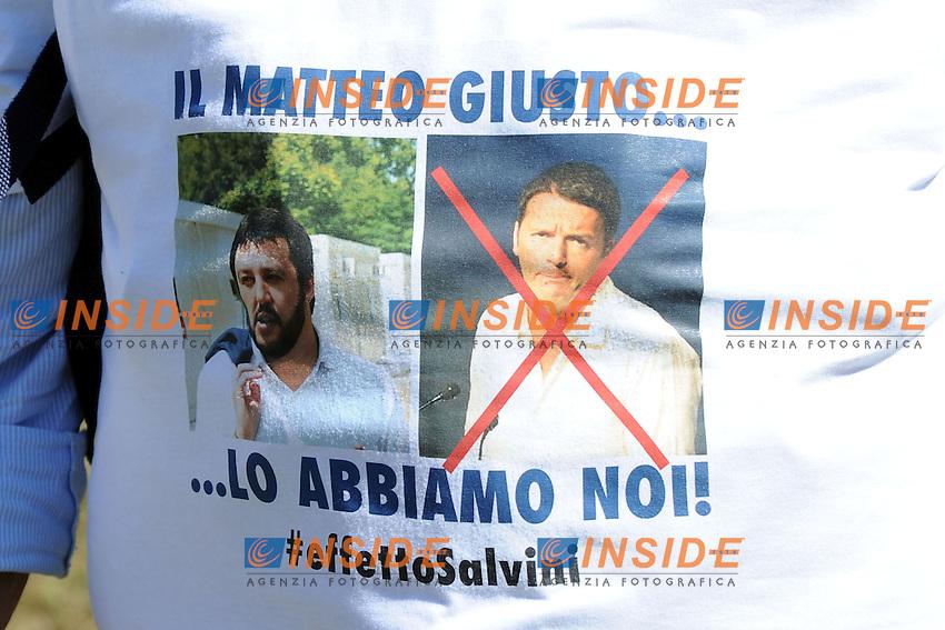 Pontida (Bg) 04/05/2014 <br /> raduno Lega Nord a Pontida - Lega Nord party Rally<br /> foto Andrea Ninni/Image/Insidefoto
