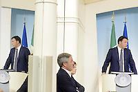 """Roma, 29 Ago 2014<br /> Sblocca Italia e riforma della Giustizia.<br /> Conferenza stampa di Matteo Renzi al termine del Consiglio dei Ministri.<br /> Matteo Renzi presents """"Unlock Italy"""" to the press .<br /> Rome, 29 August 2014 <br /> Unlock Italy and justice reform. <br /> Press Conference of Matteo Renzi at the end of the Council of Ministers."""