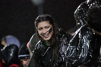 Wet fans  during the 2013 Rugby Championship - All Blacks v Argentina at Waikato Stadium, Hamilton, New Zealand on Saturday, 7th September   2013. Copyright Dion Mellow Photography. Credit DMP / Dion Mellow