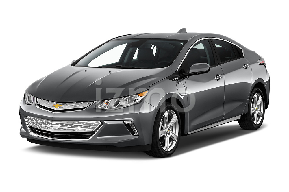 2018 Chevrolet Volt LT 5 Door Hatchback Angular Front stock photos of front three quarter view