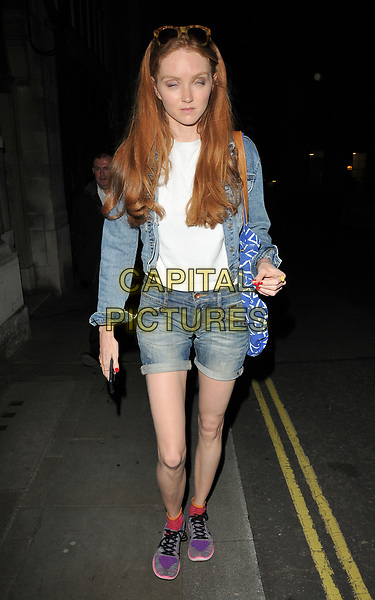 Lily Cole at the &quot;The Philanthropist&quot; theatre cast stage door departures, Trafalgar Studios, Whitehall, London, England, UK, on Saturday 27 May 2017.<br /> CAP/CAN<br /> &copy;CAN/Capital Pictures
