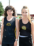 Shauna Campbell and Leah Cassidy who ran the Dunleer 4 mile run. Photo:Colin Bell/pressphotos.ie