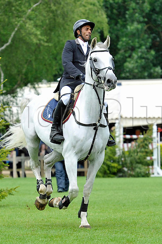 22.06.2013. The Bunn Leisure Derby Trophy. The British Jumping Derby from Hickstead, West Sussex, England. Darren Wise (GBR) riding Calareo