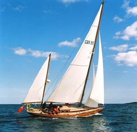 John Sisk's 8 Metre Cruiser-Racer Marian Maid was designed by Knud Reimers of Sweden