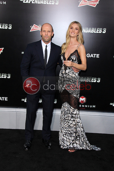 Jason Statham, Rosie Huntington-Whiteley<br /> at &quot;The Expendables 3&quot; Los Angeles Premiere, TCL Chinese Theater, Hollywood, CA 08-11-14<br /> David Edwards/Dailyceleb.com 818-249-4998