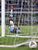 Football, Serie A: S.S. Lazio - Fiorentina, Olympic stadium, Rome, June 27, 2020. <br /> Lazio's Felipe Caicedo reacts  during the Italian Serie A football match between S.S. Lazio and Fiorentina at Rome's Olympic stadium, Rome, on June 27, 2020. <br /> UPDATE IMAGES PRESS/Isabella Bonotto