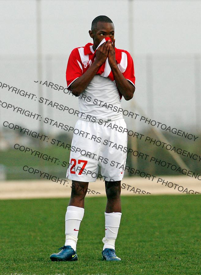 Bernard Parker Sport Fudbal Soccer Crvena Zvezda Pripreme Agia Napa Aja Napa Kipar Cyprus Brno 6.2.2009. photo: Pedja Milosavljevic / STARSPORT