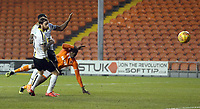 Blackpool's Joe Dodoo (partially hidden) scores his side's third goal <br /> <br /> Photographer Stephen White/CameraSport<br /> <br /> The EFL Sky Bet League One - Blackpool v Burton Albion - Saturday 24th November 2018 - Bloomfield Road - Blackpool<br /> <br /> World Copyright © 2018 CameraSport. All rights reserved. 43 Linden Ave. Countesthorpe. Leicester. England. LE8 5PG - Tel: +44 (0) 116 277 4147 - admin@camerasport.com - www.camerasport.com