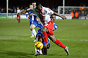 Francis Zoko of Stevenage battles with Gabriel Zakuani of Peterborough<br />  - Peterborough United v Stevenage - Sky Bet League One - London Road, Peterborough - 23rd November 2013. <br /> © Kevin Coleman 2013