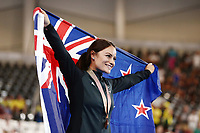 Natasha Hansen of New Zealand wins bronze in the Women's Keirin Finals. Gold Coast 2018 Commonwealth Games, Track Cycling, Anna Meares Velodrome, Brisbane, Australia. 8 April 2018 © Copyright Photo: Anthony Au-Yeung / www.photosport.nz /SWpix.com