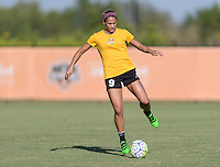 Houston, TX - Friday Oct. 07, 2016: Lynn Williams during training prior to the National Women's Soccer League (NWSL) Championship match between the Washington Spirit and the Western New York Flash at BBVA Compass Stadium.