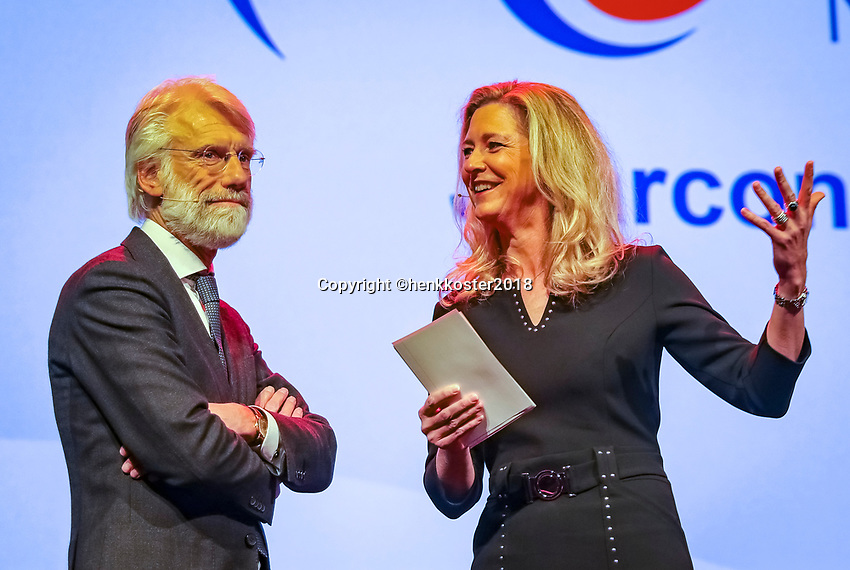 Nieuwegein,  Netherlands, 24 November 2018, KNLTB Year congress KNLTB, Erik Scherder and Ktisty Boogert<br /> Photo: Tennisimages.com/Henk Koster