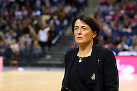 10.02.2017 Silver Ferns coach Janine Southby during the Silver Ferns v England Roses Vitality Netball International Series test match played at the Echo Arena in Liverpool. Mandatory Photo Credit © Paul Greenwood/Michael Bradley Photography.