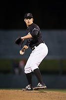 Kannapolis Intimidators relief pitcher Lane Hobbs (26) in action against the Lakewood BlueClaws at Kannapolis Intimidators Stadium on April 6, 2017 in Kannapolis, North Carolina.  The BlueClaws defeated the Intimidators 7-5.  (Brian Westerholt/Four Seam Images)