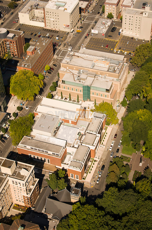 Aerial view of the Portland Art Museum.