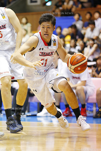 Shigehiro Taguchi (JPN), AUGUST 15, 2015 - Basketball : International friendly match between Japan 65-54 Czech Republic at 2nd Yoyogi Gymnasium in Tokyo, Japan. (Photo by Yusuke Nakanishi/AFLO SPORT)