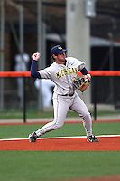 April 11, 2008:  University of Michigan Wolverines starting infielder Adam Abraham (20) against the University of Illinois Fighting Illini at Illinois Field in Champaign, IL.  Photo by:  Chris Proctor/Four Seam Images