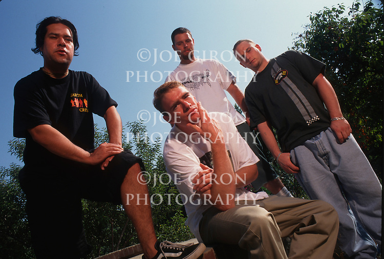 Various portrait sessions of the rock band, Downset