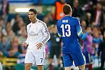 Atletico de Madrid's Jan Oblak (r) and Real Madrid's Cristiano Ronaldo during Champions League 2014/2015 Quarter-finals 1st leg match.April 14,2015. (ALTERPHOTOS/Acero)