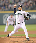 Hisashi Iwakuma (Mariners),.MAY 26, 2013 - MLB :.Hisashi Iwakuma of the Seattle Mariners pitches during the baseball game against the Texas Rangers at Safeco Field in Seattle, Washington, United States. (Photo by AFLO)