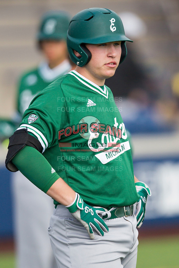 Eastern Michigan Hurons first baseman John Rensel Jr. (34) before the game against the Michigan Wolverines on May 3, 2016 at Ray Fisher Stadium in Ann Arbor, Michigan. Michigan defeated Eastern Michigan 12-4. (Andrew Woolley/Four Seam Images)