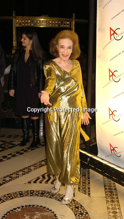 Helen Gurley Brown..at The Accessories Council 8th Annual ACE Awards on ..November 1, 2004 at Cipriani 42nd Street. ..Photo by Robin Platzer, Twin Images