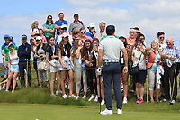 Niall Horan (AM) with adoring fans at the 2nd tee during the Pro-Am of the Irish Open at LaHinch Golf Club, LaHinch, Co. Clare on Wednesday 3rd July 2019.<br /> Picture:  Thos Caffrey / Golffile<br /> <br /> All photos usage must carry mandatory copyright credit (© Golffile | Thos Caffrey)