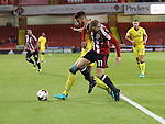 Matt Done of Sheffield United battles with Jake Clarke-Salter during the EFL League One match at the Bramall Lane Stadium, Sheffield. Picture date: September 27th, 2016. Pic Jamie Tyerman/Sportimage
