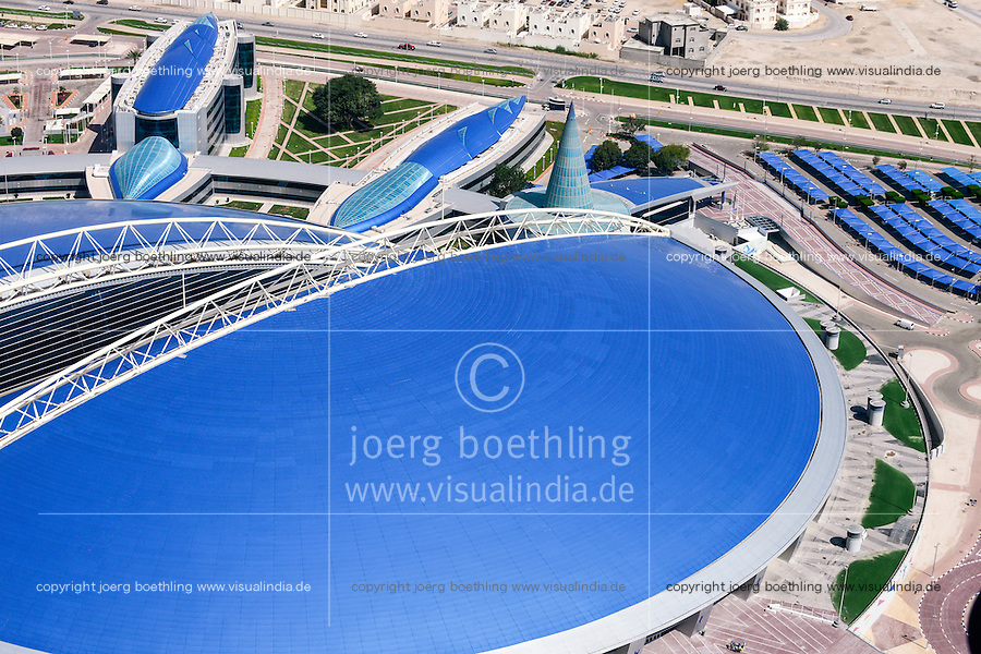 QATAR, Doha, Aspire dome, sportspark at Khalifa International Stadium for FIFA world cup 2022, built by contractor midmac and sixt contract / KATAR, Doha, Aspire Dome, Sportpark am Khalifa International Stadium fuer die  FIFA Fussballweltmeisterschaft 2022