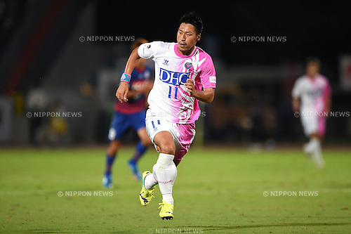 Yohei Toyoda (Sagan),<br /> SEPTEMBER 13, 2014 - Football / Soccer :<br /> 2014 J.League Division 1 match between Ventforet Kofu 1-0 Sagan Tosu at Yamanashi Chuo Bank Stadium in Yamanashi, Japan. (Photo by AFLO)